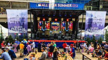 Creative LED at the MLB All Star Pre-Game Celebration.